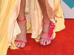 LAS VEGAS, NEVADA - APRIL 03:  Singer Miranda Lambert, shoe detail, attends the 51st Academy Of Country Music Awards at MGM Grand Garden Arena on April 3, 2016 in Las Vegas, Nevada.  (Photo by C Flanigan/FilmMagic)