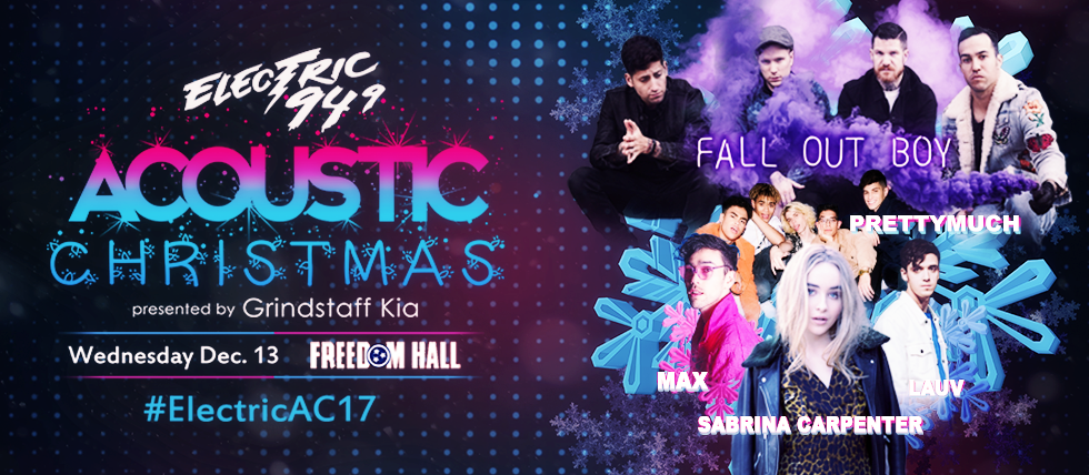 Acoustic Christmas 2019 Lineup Electric 94.9's Acoustic Christmas '17 | Electric 94.9