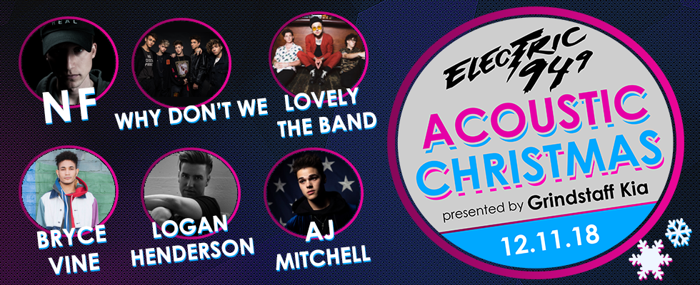 Acoustic Christmas 2019 Lineup Electric 94.9's Acoustic Christmas '18 | Electric 94.9